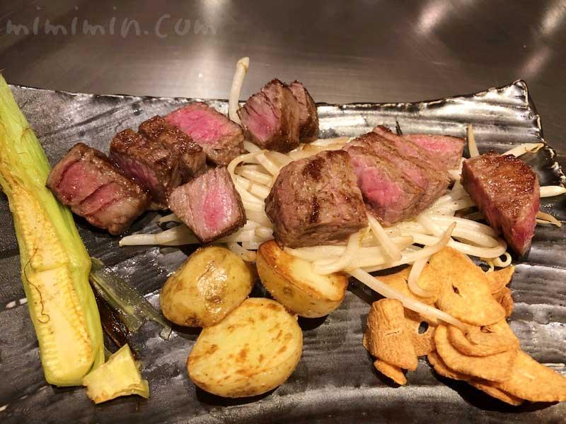 恵比寿牛のステーキ|鉄板焼き 恵比寿のディナー(ウェスティンホテル東京)の画像