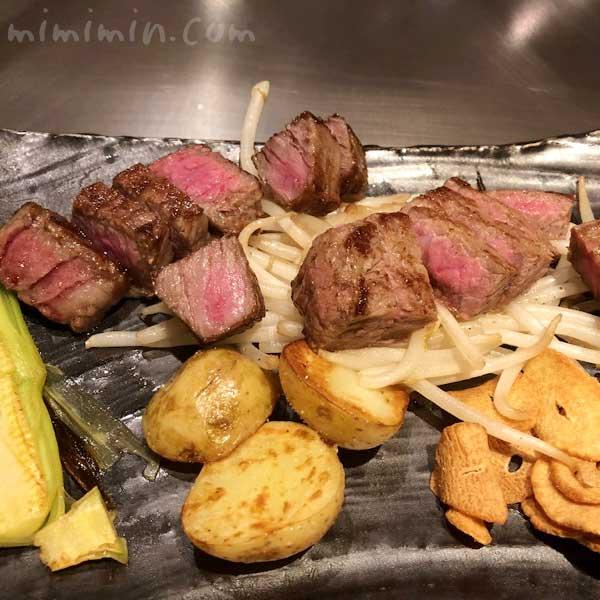 恵比寿牛のステーキ|鉄板焼き 恵比寿のディナーの画像