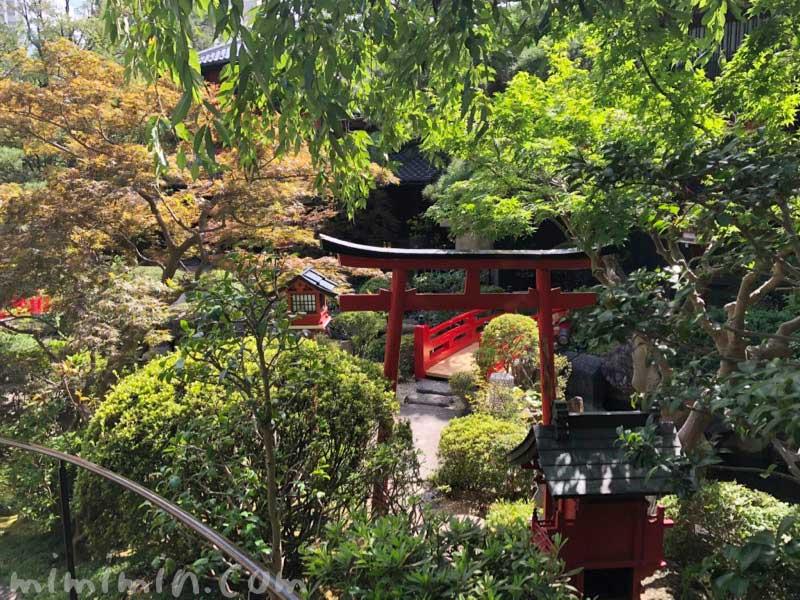 東京 芝 とうふ屋うかいのお庭の画像