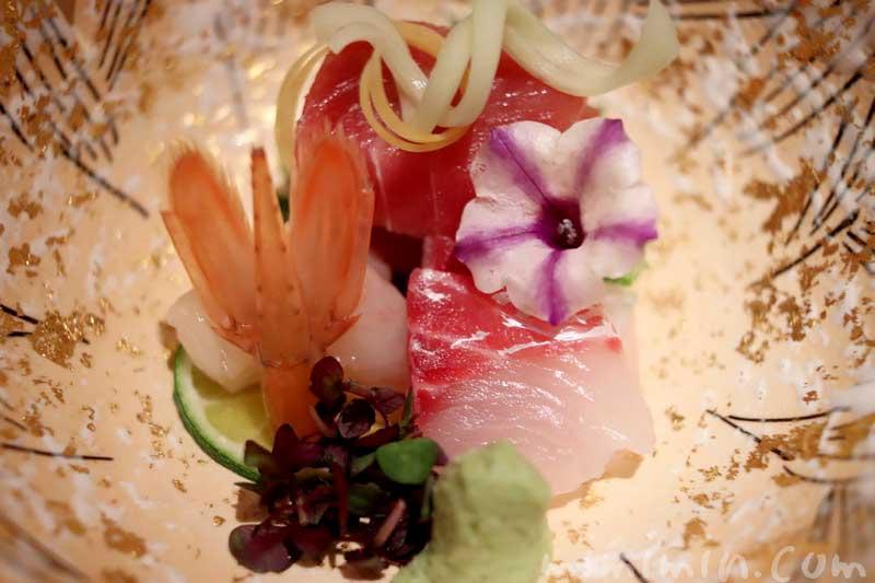 お造り 3種盛り合わせ 日本料理 舞の凛懐石の写真
