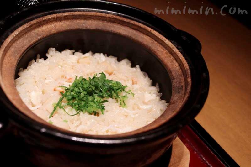 蟹と帆立の釜炊きご飯 日本料理 舞の凛懐石の画像
