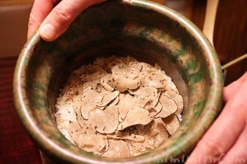 トリュフごはん|麻布かどわきでディナー | 麻布十番の割烹・懐石料理・和食の画像
