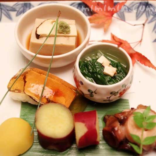 前菜|赤坂松葉屋の個室でランチ 赤坂会席|松茸・飛騨牛専門店