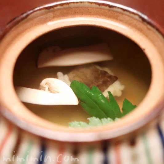 蒸物 松茸と鱧の土瓶蒸し|赤坂松葉屋 赤坂会席