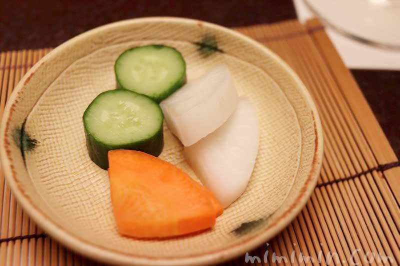 漬物|赤坂松葉屋の個室でランチの写真
