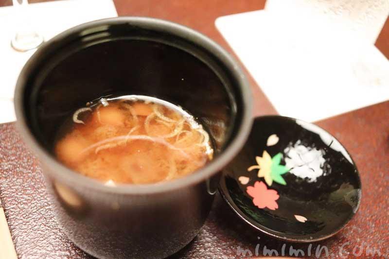 味噌汁|赤坂松葉屋の個室でランチ 赤坂会席の画像
