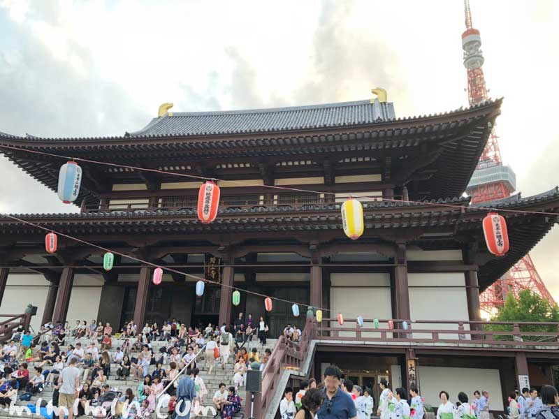 増上寺のお祭りの画像