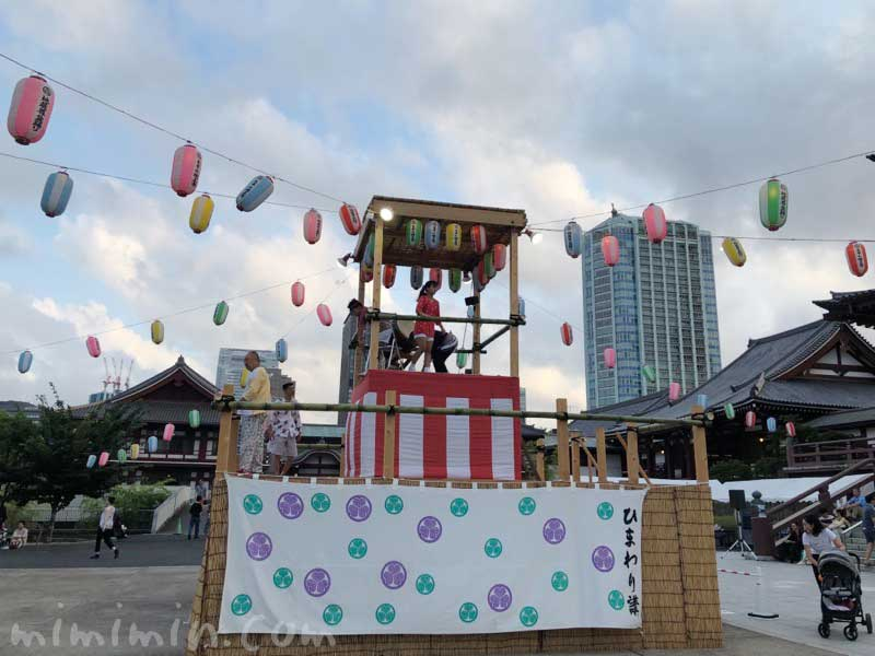 増上寺のお盆祭りの写真