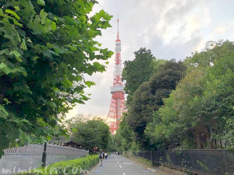 東京タワー|増上寺の前の写真