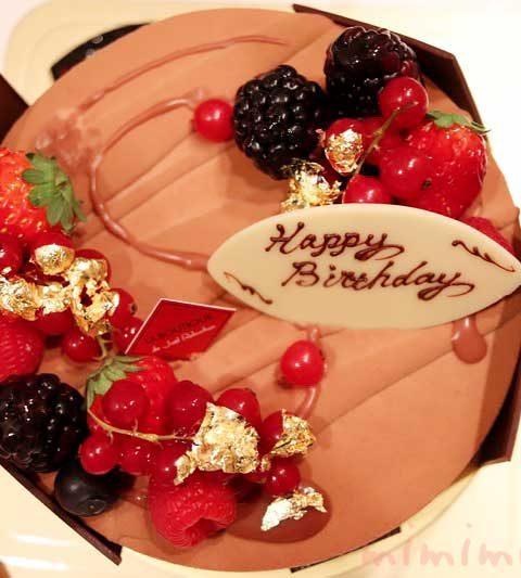 ロブションのバースデーケーキ「フルール ド オランジュ」
