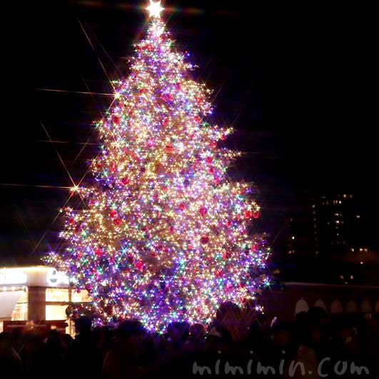 恵比寿ガーデンプレイスのクリスマスツリーイルミネーションの写真