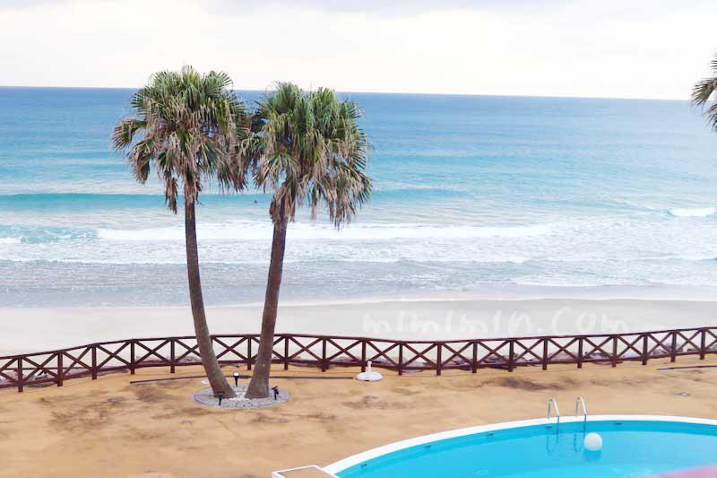 種子島いわさきホテル プールと海