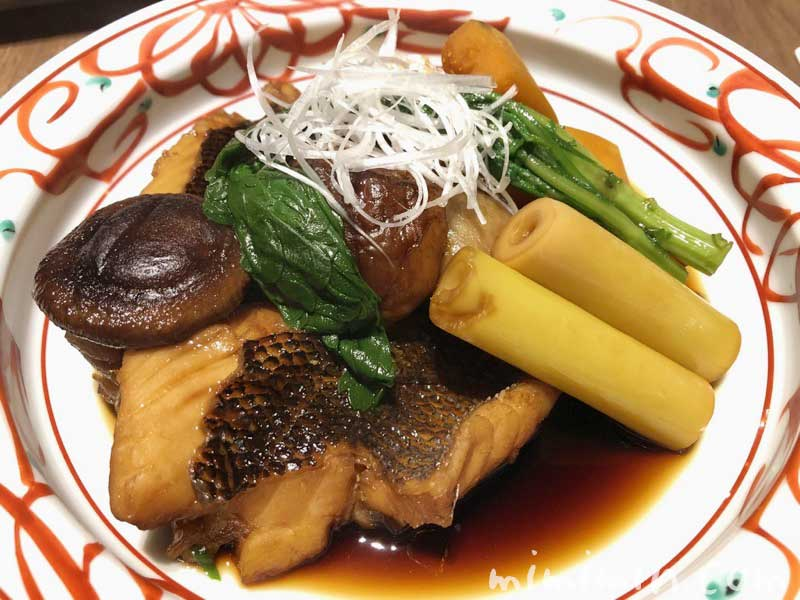 種子島いわさきホテルのレストラン「ティアラ」の夕食 ホタの煮付けの画像