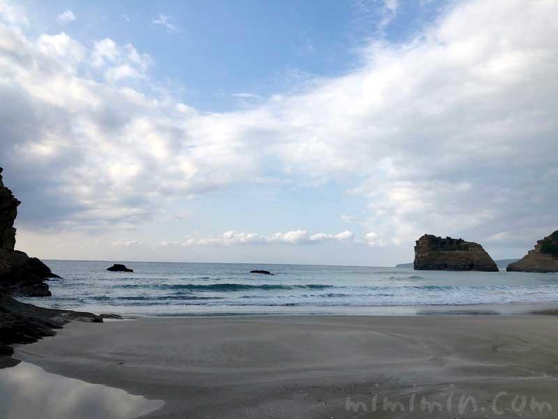 種子島の竹崎海岸と空の写真