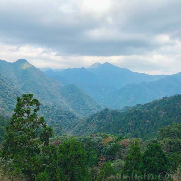屋久島の山々の風景の画像
