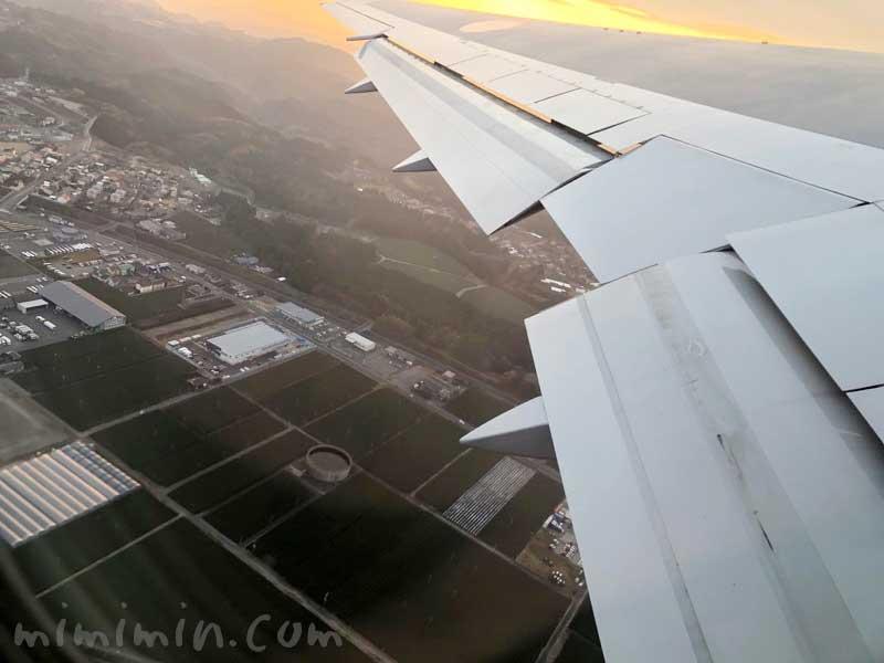 飛行機の景色の写真