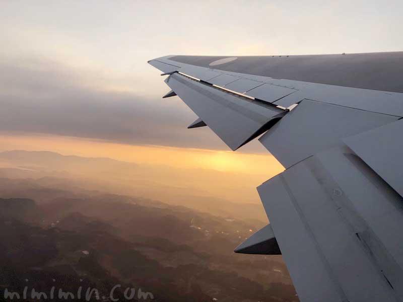 飛行機の夕焼けの画像
