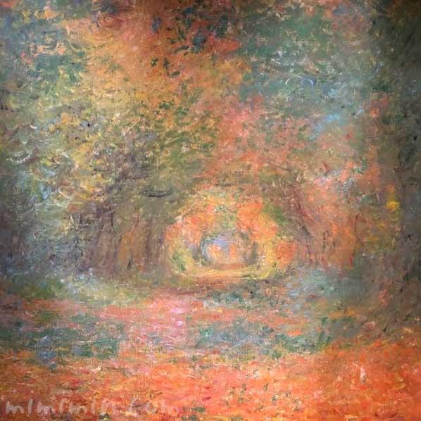 モネ「サン=ジェルマンの森の中で」吉野石膏コレクション 印象派からその先への写真