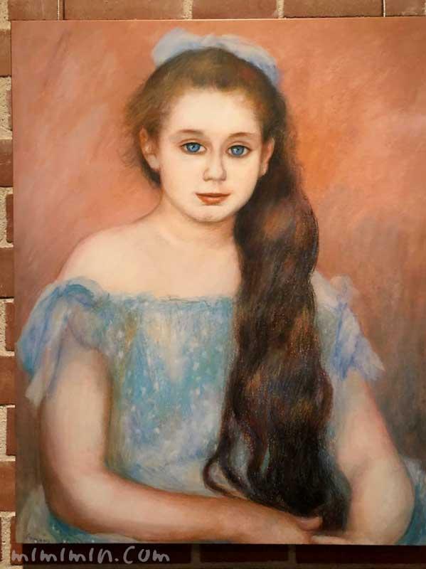 ルノワール「シュザンヌ・アダン嬢の肖像」の写真