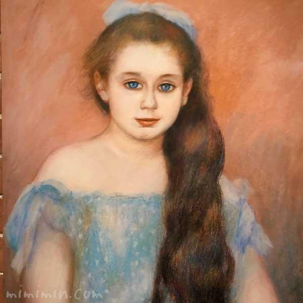 ルノワール「シュザンヌ・アダン嬢の肖像」吉野石膏コレクションの画像