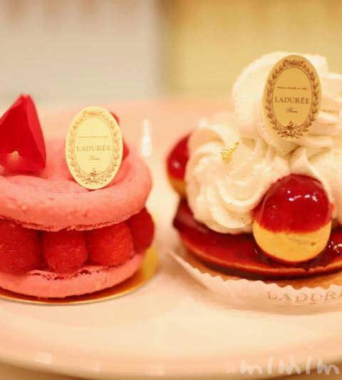 ラデュレのショートケーキ「イスパハン」