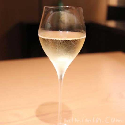 六本木 カッポウ ウカイのランチのシャンパンの画像