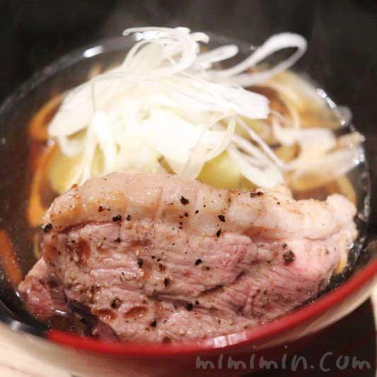 六本木 kappou ukai のランチのかも蕎麦の写真