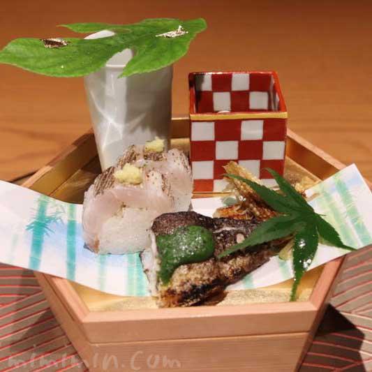 六本木 カッポウ ウカイのランチのお料理の写真
