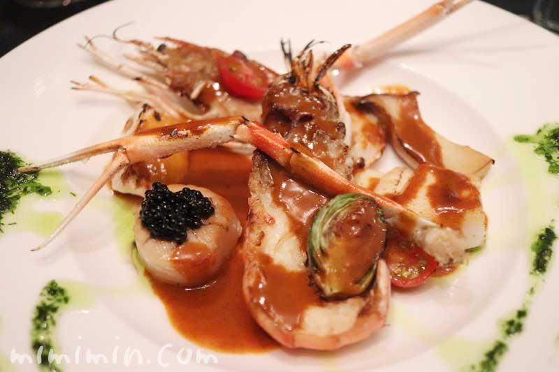 ガルニエでディナー・魚料理 海老の画像