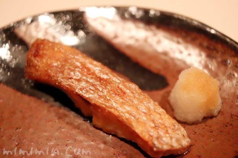 焼き魚|鮨 伊佐野のおまかせコース|恵比寿・寿司の画像