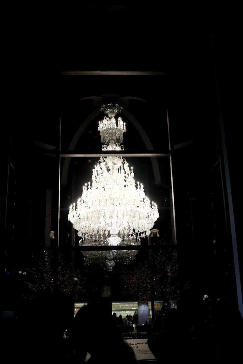 恵比寿ガーデンプレイスのバカラのシャンデリア2020の画像