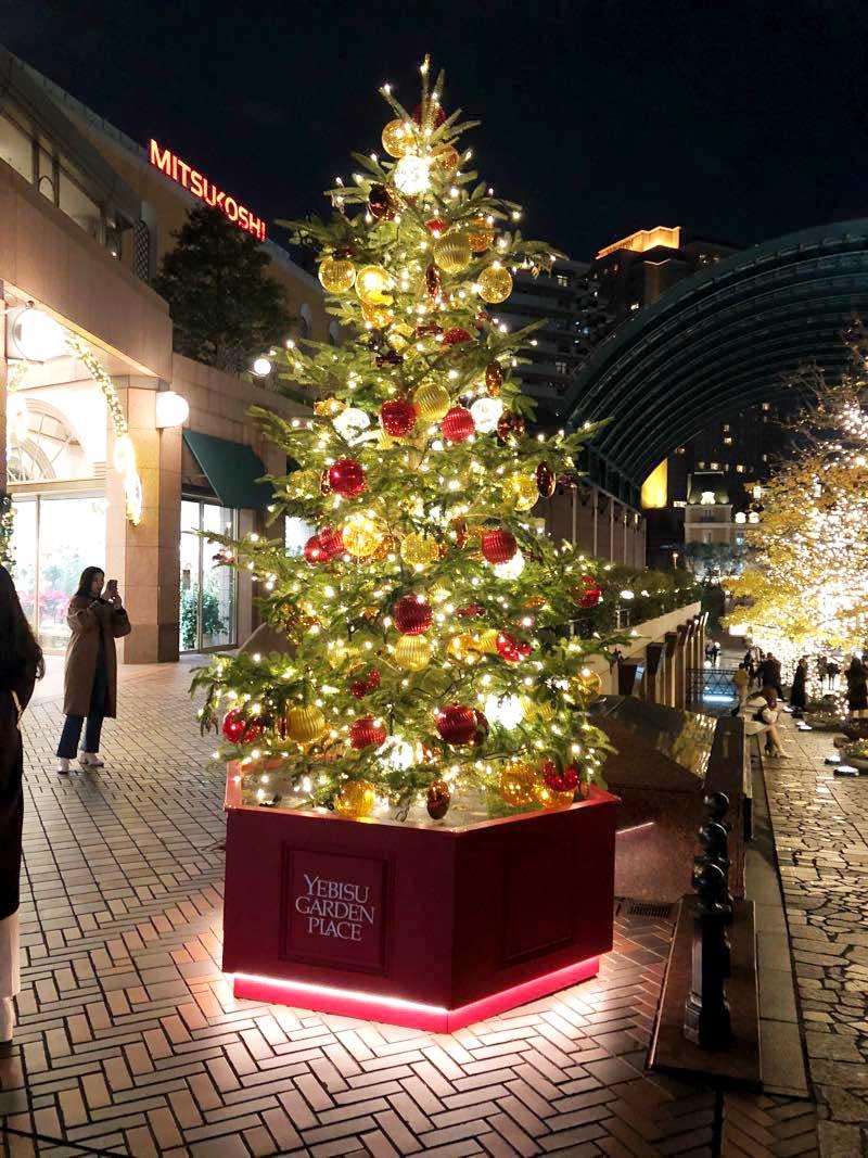 恵比寿ガーデンプレイスのクリスマスツリー2020年の画像