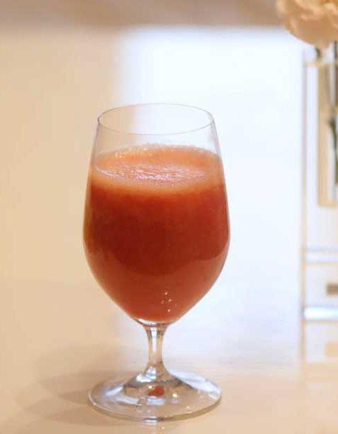 イチゴジュースを作ってみました